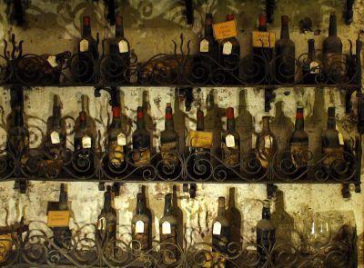 Bottles at Paris' famed 16th century eatery, the Tour d'Argent