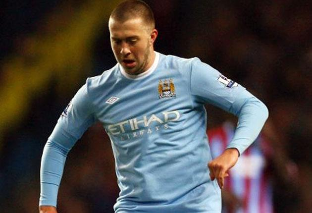 Manchester City's Michael Johnson suffered his latest injury setback in training