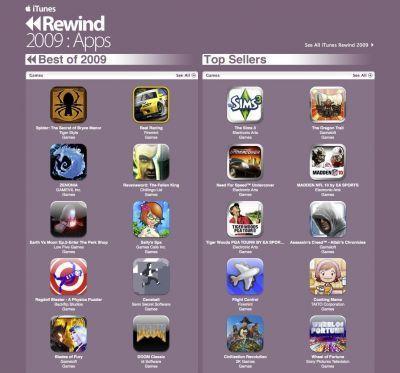 Rewind 2009 Apps