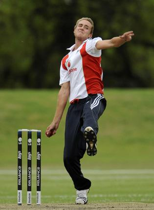 Stuart Broad limbers up for the first Test against South Africa, which starts tomorrow, having declared he will not play in next year's Indian Premier League