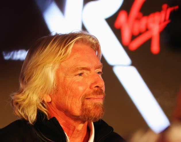 Sir Richard Branson pictured at today's launch