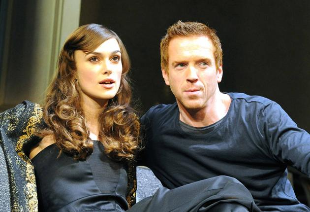 Thrilling: Keira Knightley and Damian Lewis