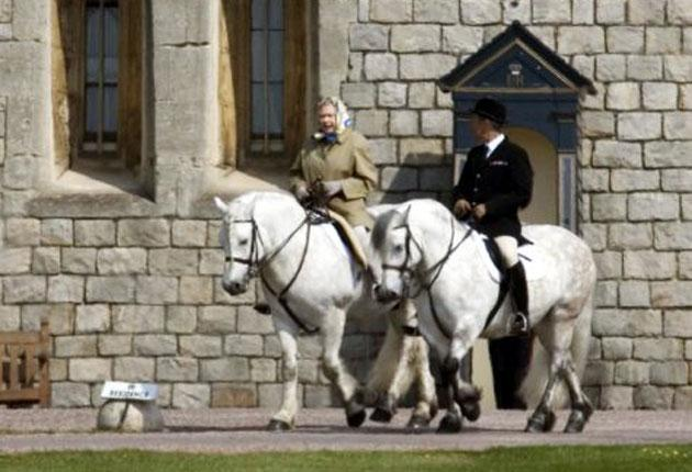 The Queen at Windsor. The Palace is locked in a battle with the Department of Culture, Media and Sport over a request for extra funds for repairs