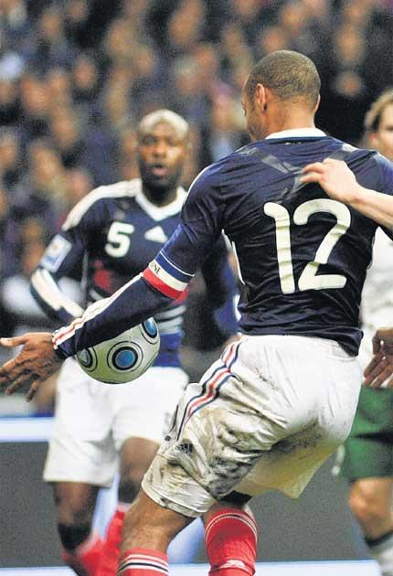 Poor sports: Thierry Henry's handball
