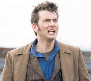 Master of the universe: in Doctor Who the Time Lord (David Tennant) battles to save the Earth