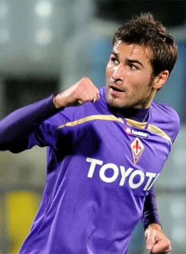 Adrian Mutu has scored 58 goals in four seasons with Fiorentina