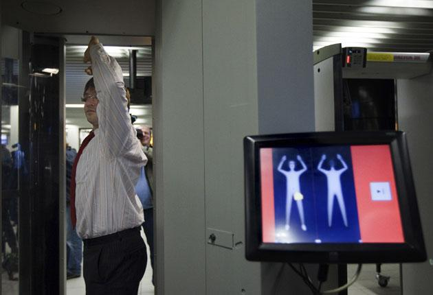 Body scanners such as this might spot devices hidden under clothing
