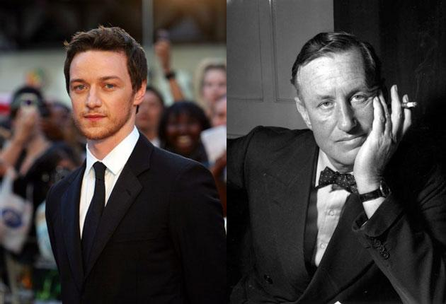 James McAvoy, left, is reported to have been approached to play the role of Ian Fleming
