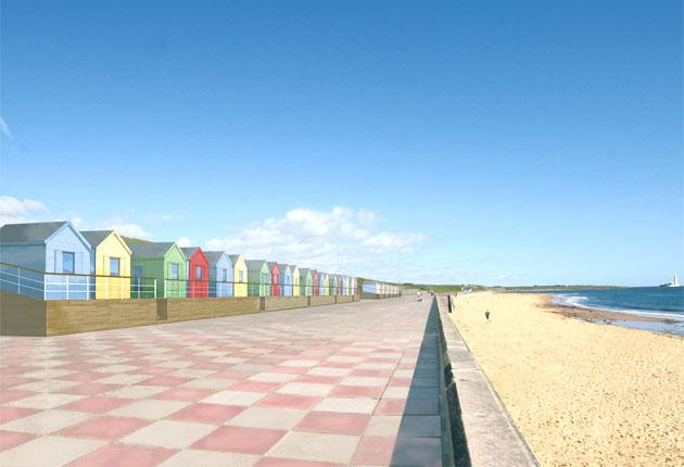 British holidaymakers priced out of Europe will be the main market for the planned beach huts