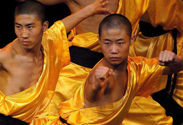 Shaolin's kung fu master monks