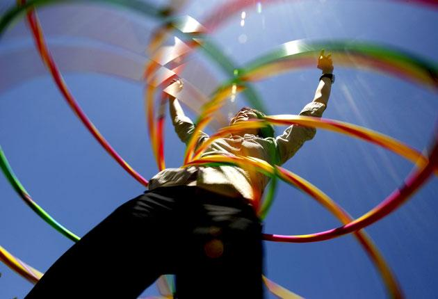 Hula-Hooping: this playground classic will have you shedding the pounds