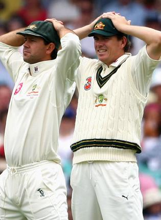 Ricky Ponting and Marcus North suffer