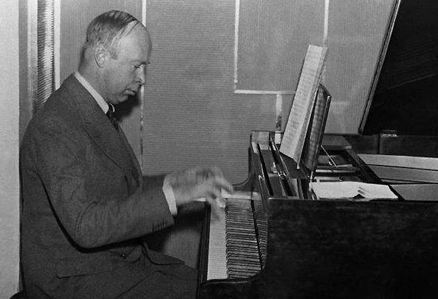 Soviet composer Sergey Sergeyevitch Prokofiev, whose works have a vast range, including seven symphonies, nine concertos, ballets, operas, suites, cantatas, sonatas, and songs