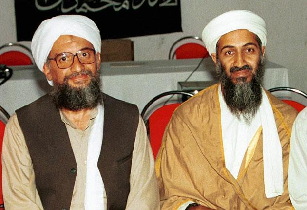 The suicide bomber was recruited by the CIA to track down Ayman al-Zawahiri, left, here pictured with Osama bin Laden