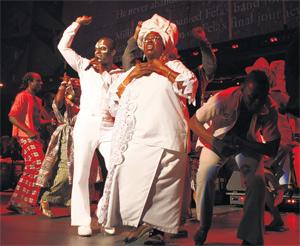 Out of Africa: the opening night of Fela!, on Broadway, in November