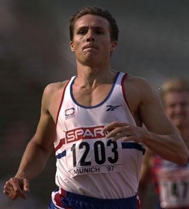 Roger Black was part of the GB 4x400m relay team that raced in Athens in 1997