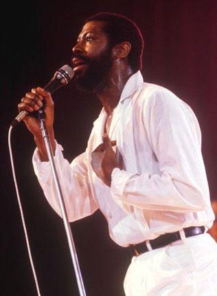 Utterly soulful: Teddy Pendergrass on stage in 1981