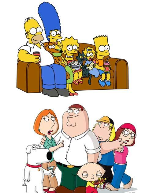 <p><b>The Simpsons v Family Guy</b></p> <p>Homer Simpson and his dysfunctional family have been on the world's TV screens for 20 hugely influential years. Some say they have been too influential on Seth MacFarlane's 'Family Guy'. 'Simpsons' writers are sa