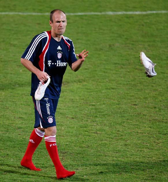Robben claims the disagreement was resolved immediately
