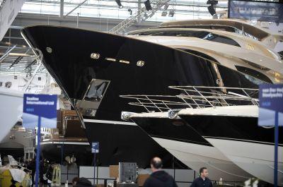 Drettmann Elegance 122, the largest yacht at Boot Düsseldorf