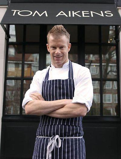 Chef Tom Aikens outside his restaurant in London