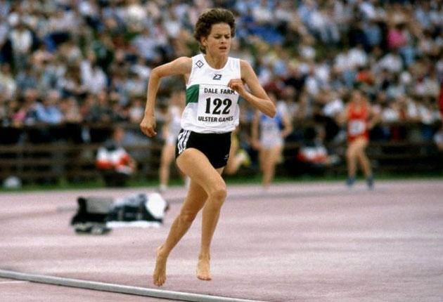 Ahead of her time? Barefoot Zola Budd, competing in 1984