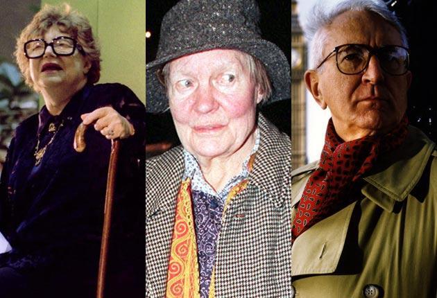 Muriel Spark, Iris Murdoch and Len Deighton