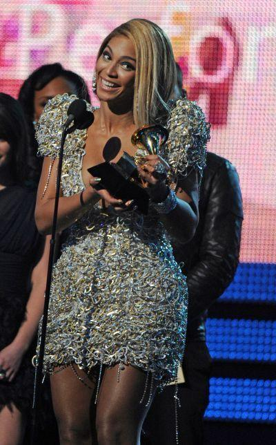 Beyoncé accepts the award for the Best Female Pop Vocal Performance