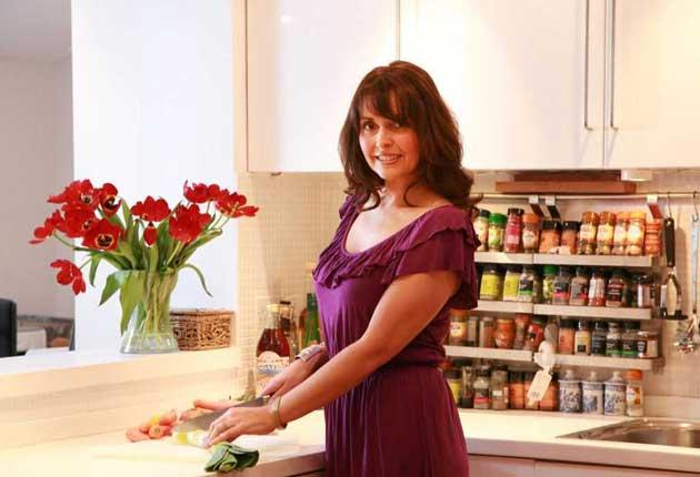 Another chance: Sally Bee with in her kitchen at home in Stratford-on-Avon