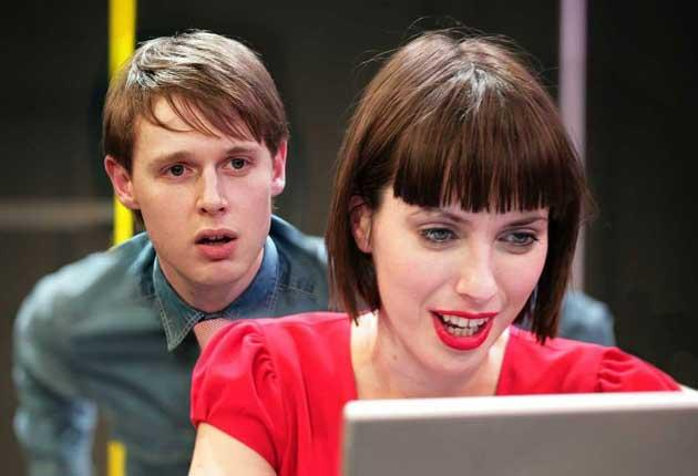 Exhilarating: ad-land workers Samuel Barnett and Kate O'Flynn