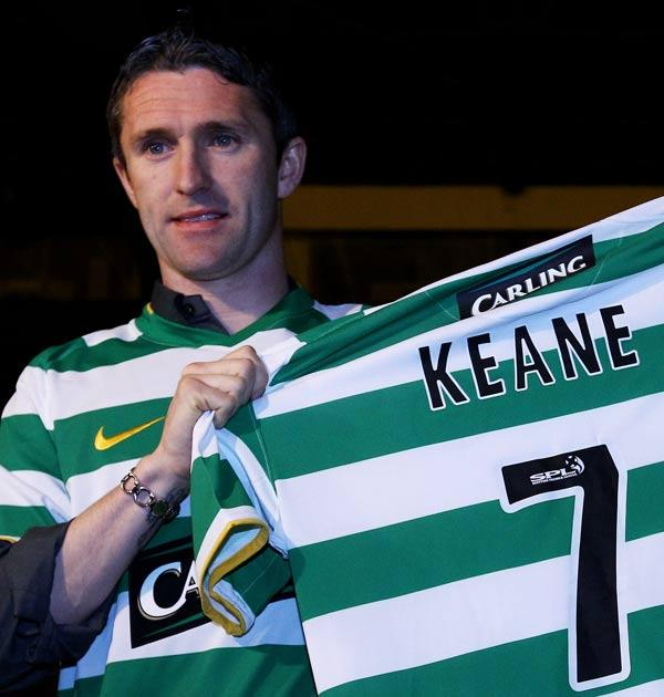 Keane recieved a hero's welcome at Celtic