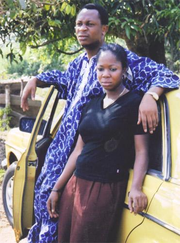 Prince Ademola Babatunde Bakare with his wife before he fled Owo in Nigeria in 2008