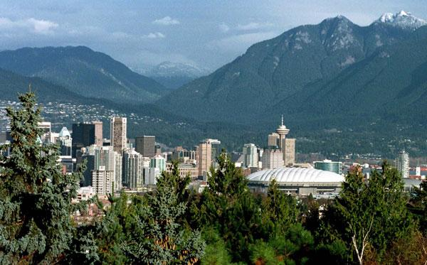 Superb vistas: Vancouver is surrounded by mountains and the ocean