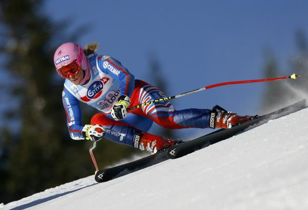 Downhill all the way: Chemmy Alcott is among Britain's medal hopes  at the Vancouver Games
