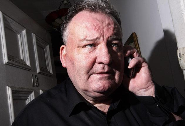 Jim Devine, the Labour MP for Livingston, at his home in Blackburn, Scotland, on Friday. He faces two charges for false accounting