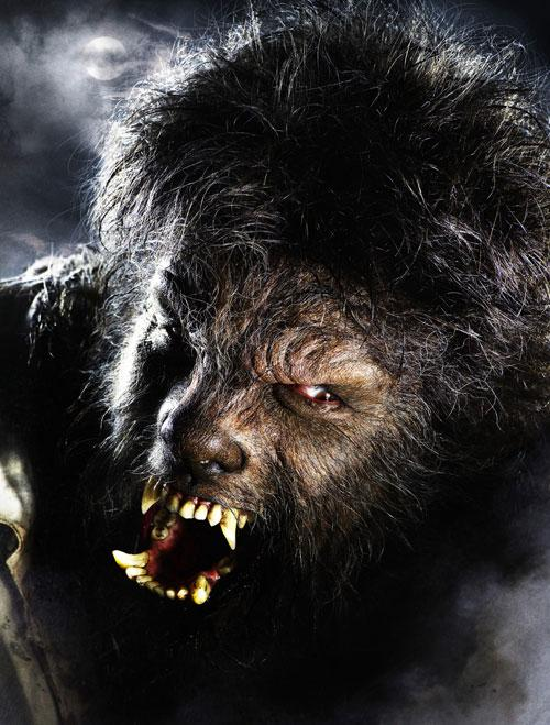 Benicio Del Toro, as transformed by Oscar-winning special effects artist Rick Baker for the title role in 'The Wolfman'