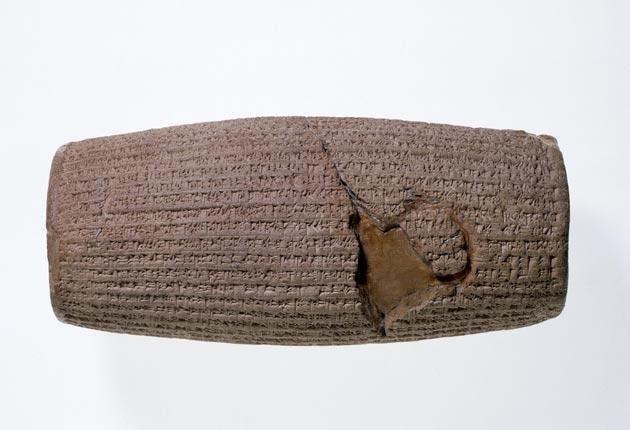 The clay tablet is believed to be the world's first declaration of rights