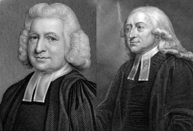 Brothers Charles, left, and John Wesley, founders of Methodism