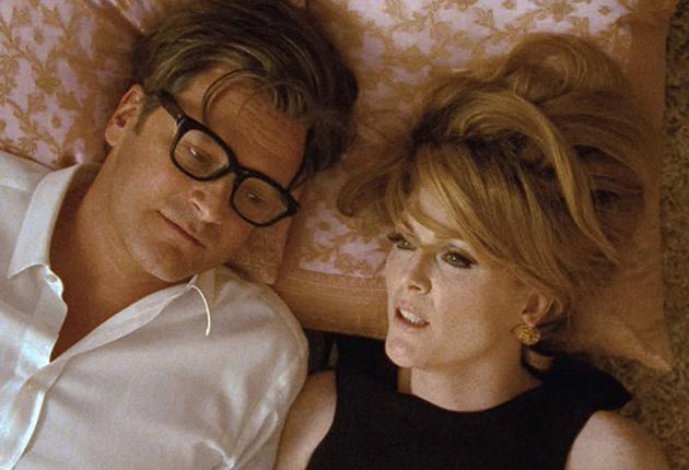 Designer duet: George (Colin Firth) and old flame Charley (Julianne Moore) in the film's best scene