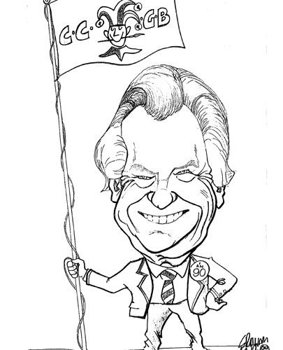 Scott during his time at the Cartoonists' Club of Great Britain