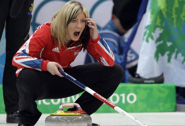 Eve Muirhead shouts tactics to her Great Britain team in Vancouver. 'The stamina required is massive, and you have to be mentally fit too, always alert'