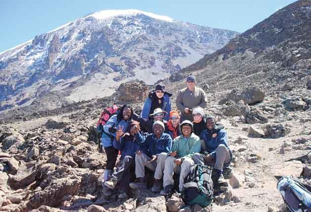Rock and roll: a money-raising expedition to Mount Kilimanjaro