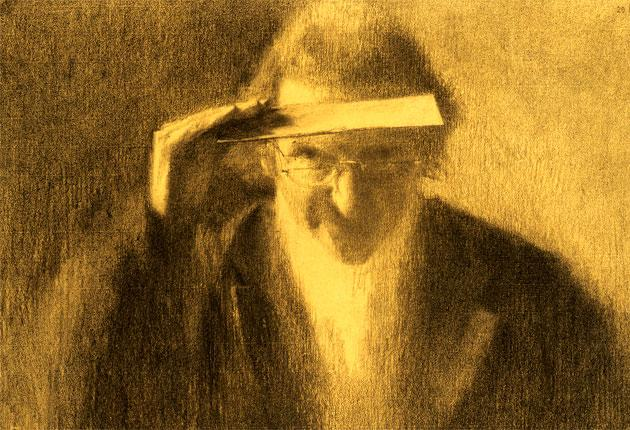 A self-portrait by Sergeant: he studied his own face with the same dispassionate rigour he applied to inanimate objects