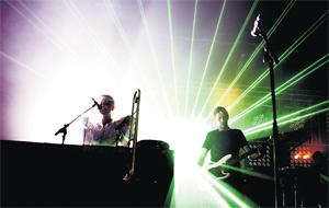Light fantastic: Groove Armada on stage in Melbourne earlier this year