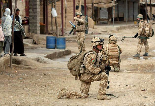 British soldiers of the Royal Welsh in Afghanistan