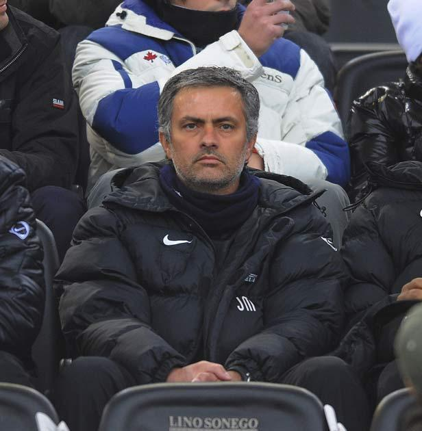 Mourinho was forced to watch from the stands