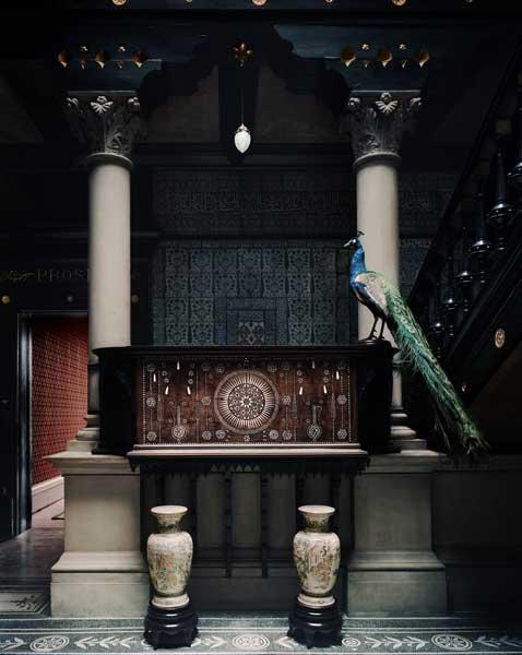 The Arab Hall, with its gilded ceilings and walls, peacock-blue tiles and fountain, remains the central attraction of Leighton House