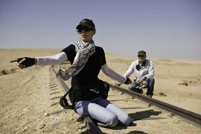 New direction: Kathryn Bigelow on the set of her film The Hurt Locker