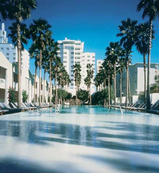 Miami nice: the centrepiece of The Delano on Collins Avenue is its swimming pool