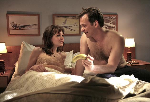 Carey Mulligan and Peter Sarsgaard in An Education, which is up for Best Picture and Best Actress.